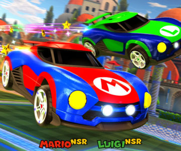 Nintendo Switch 版『Rocket League』の任天堂コラボ要素、マリオやルイージ、サムスのバトルカーが登場