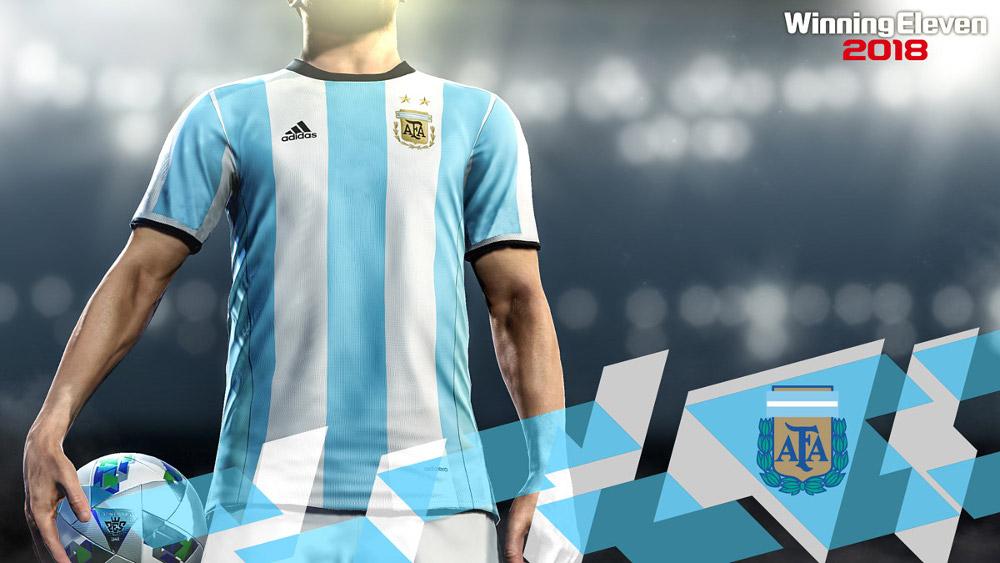 コナミ、アルゼンチンサッカー協会とオフィシャルパートナー契約。『ウイイレ2018』で公式ユニフォームなどが忠実に再現