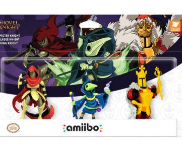 『amiibo ショベルナイトシリーズ』に、プレイグナイト、スペクターナイト、キングナイトの3体が仲間入り