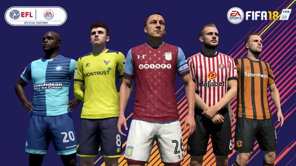 EA、『FIFA 18』で EFL とオフィシャルパートナー契約。2部以下の選手たちもリアルさを増して登場