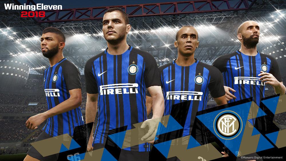 コナミ、イタリア「インテル・ミラノ」とグローバルパートナー契約。『ウイイレ2018』で選手や戦術、スタジアムがリアルに再現
