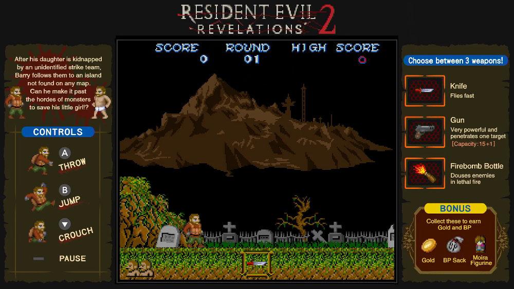 スイッチ版『バイオリベ』に 8bit テイストのミニゲームが収録、『UE』にはシューティング、『2』には『魔界村』オマージュのアクション