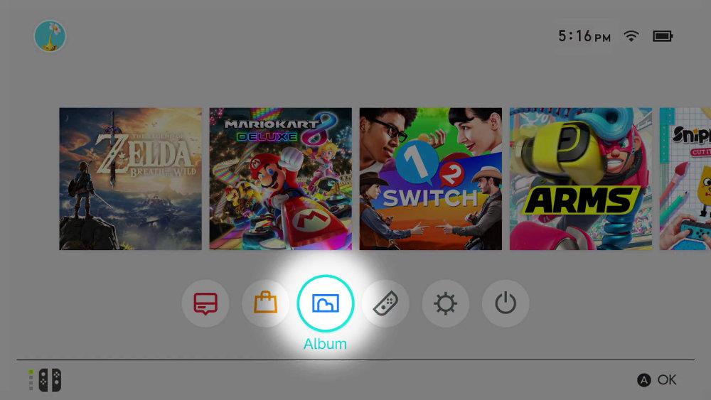 【Nintendo Switch】撮影した写真や動画のアルバム内の並び順、目的の写真を見つけやすくする方法
