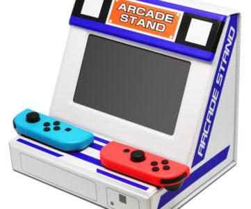 ゲーセン気分を楽しめる『折りたたみアーケードスタンド』、Nintendo Switch をセットするとアーケード筐体風に