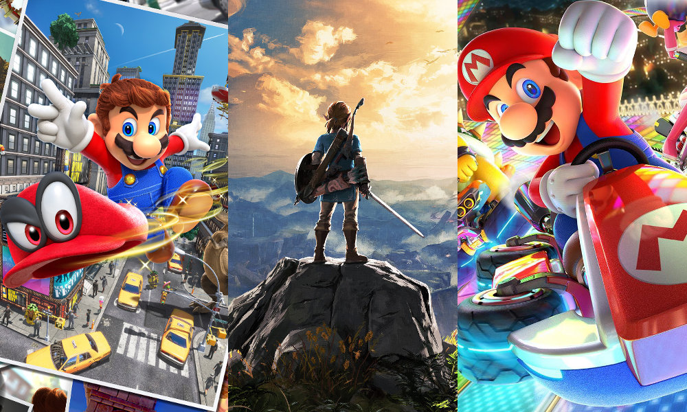 2018年1-3月に最も勢いのあった任天堂のスイッチソフトは『マリオカート』と『ゼルダの伝説』、海外では互角の売れ行き