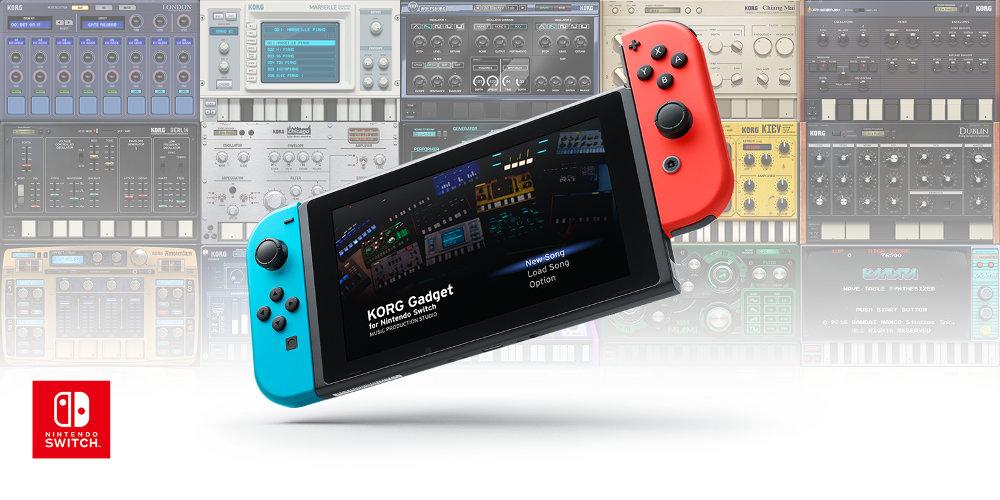 コルグ、最大4人で作曲も可能なDAW 『KORG Gadget for Nintendo Switch』を4月26日に発売。ゲーム感覚で楽しめる音楽制作スタジオ