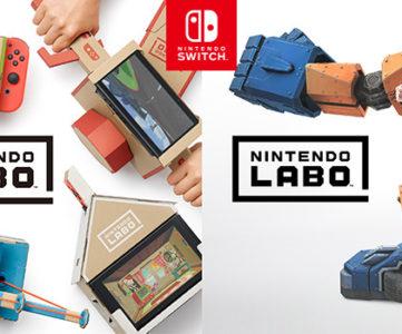 ダンボール製の工作キットとニンテンドースイッチが合体、インタラクティブな DIY トイ『Nintendo Labo (ニンテンドー ラボ)』が新登場