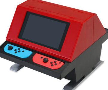 ニンテンドースイッチ本体を懐かしの「任天堂VS.システム」風にして楽しめる『対面型アーケードスタンド』