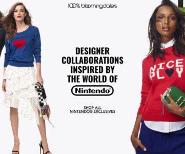任天堂が米高級百貨店ブルーミングデールズとコラボ:様々な著名ブランドがコラボ商品を展開する「LET'S PLAY」コレクション