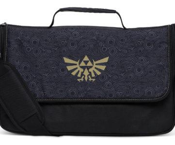 『ゼルダの伝説 BOTW』デザイン、任天堂公式ライセンスの Nintendo Switch 収納メッセンジャーバッグ