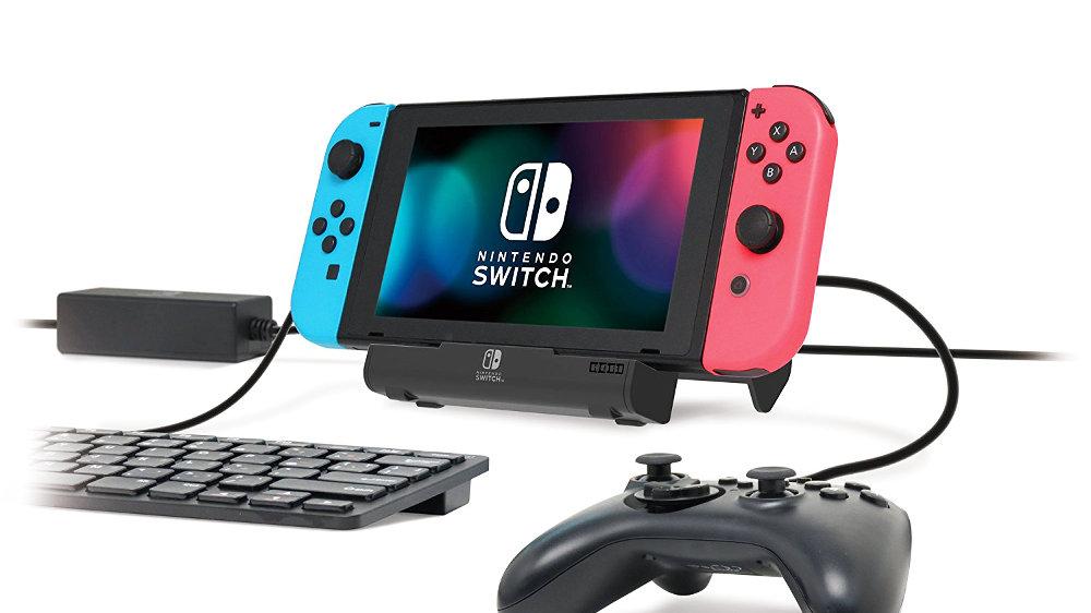 Nintendo Switch「テーブルモード」で複数周辺機器を同時利用できる4ポートUSBハブスタンド、LANアダプター接続で有線LAN接続も可能に