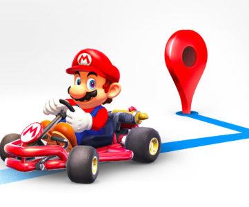 マリオの日(Mar10):目的地までマリオとドライブ、Google マップのナビ機能がマリオカートに