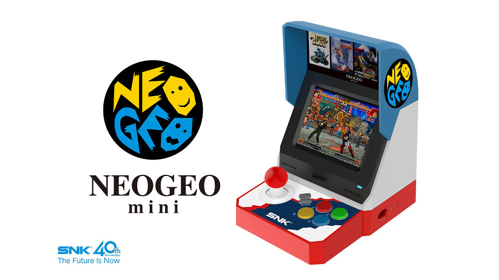 名作を40作品収録する『NEOGEO mini』は3.5インチ液晶搭載でアーケード筐体を手のひらサイズで再現、HDMIでTV出力も可能