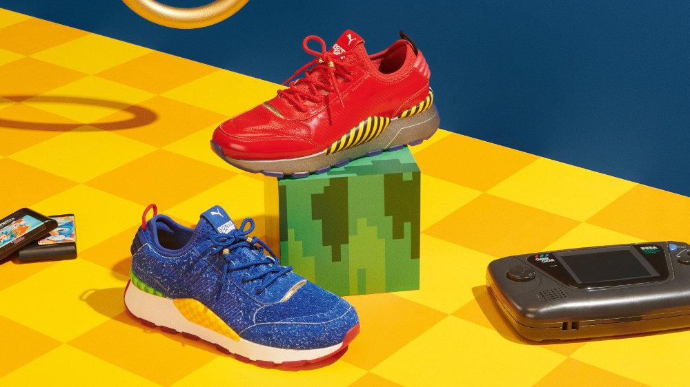 プーマ×セガ ソニックのコラボシューズが6月に発売、ゲームの世界観が靴上で表現