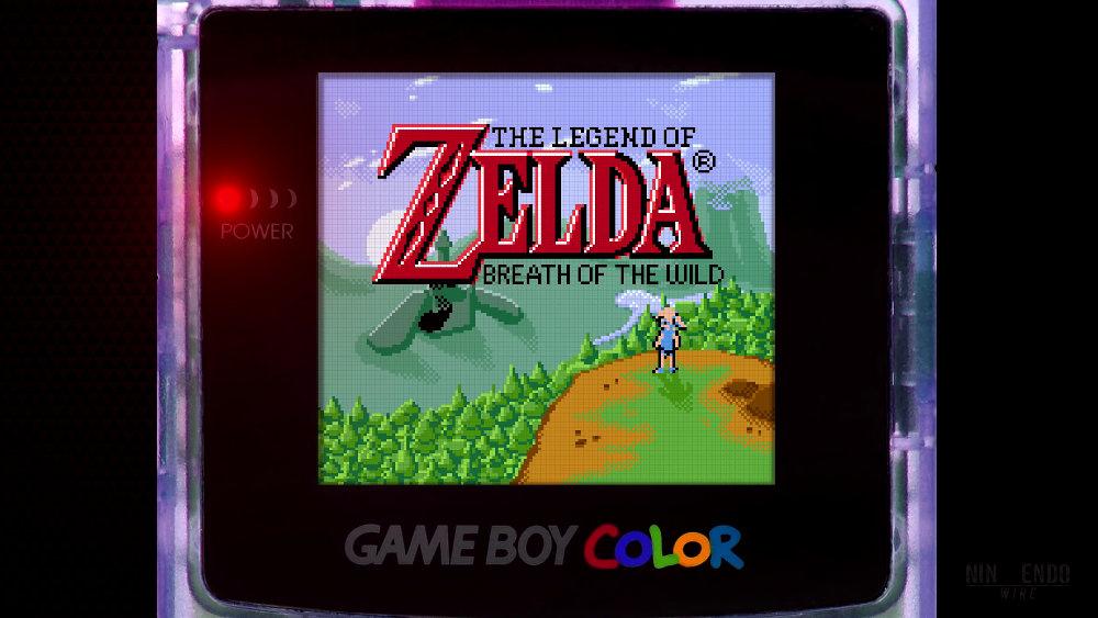 『ゼルダの伝説 ブレス オブ ザ ワイルド』がもし90年代にゲームボーイカラーで発売されていたら?を表現するデメイク映像