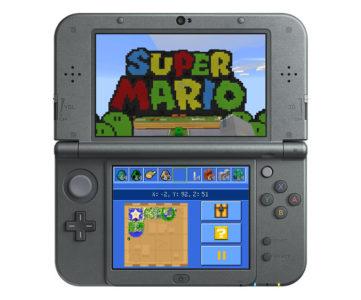 New3DS版『マインクラフト』、Ver.1.5で「スーパーマリオ マッシュアップパック」が利用可能に インゲームストアにも対応
