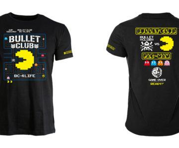 パックマン×バレットクラブのコラボTシャツが発売、新日のライオンマークもドット絵に