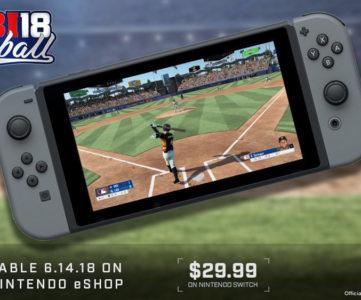 MLB公認『R.B.I. Baseball 18』が日本のニンテンドースイッチeショップでも配信、日本語対応