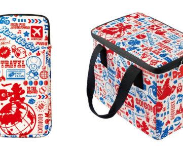 【任天堂公式】オリジナルのトラベル柄がかわいい「旅」をイメージした『スーパーマリオ』の Nintendo Switch マルチポーチやオールインボックス