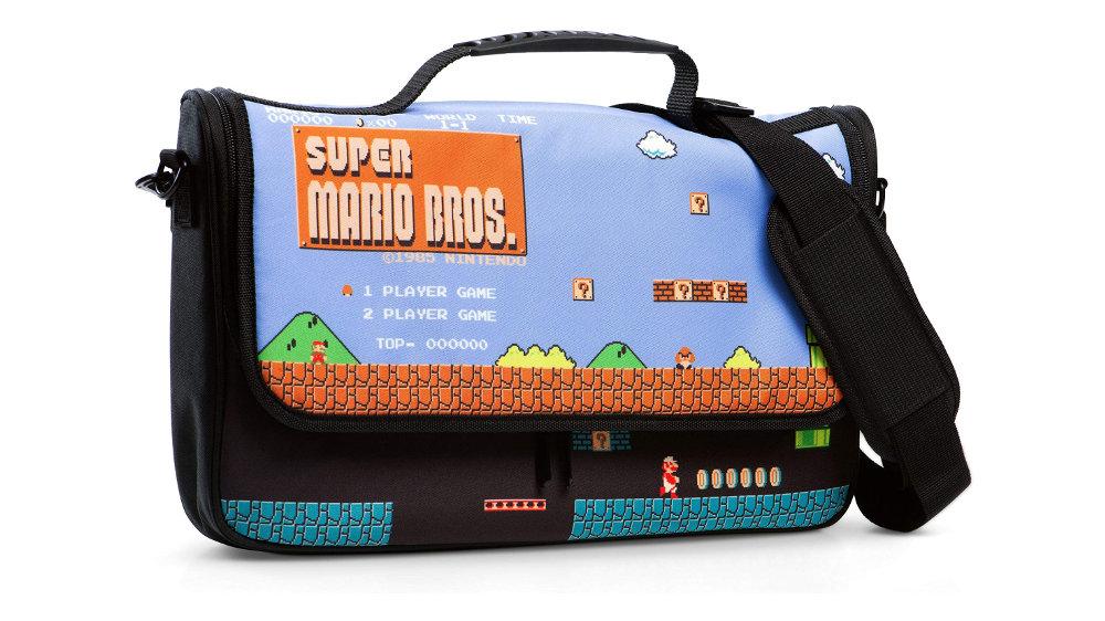 『スーパーマリオ』「1-1」の地上と地下がデザイン、海外任天堂公式ライセンスのNintendo Switch収納メッセンジャーバッグ