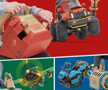 『Nintendo Labo』第3弾は「ドライブキット」、クルマやヒコウキ、センスイカンのToy-Conとアクセルペダルで陸海空を自由に操縦