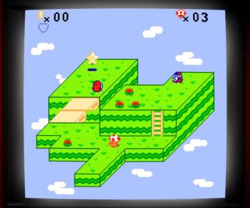 もしも『進め!キノピオ隊長』がファミコンで発売されていたら?を表現するデメイク映像