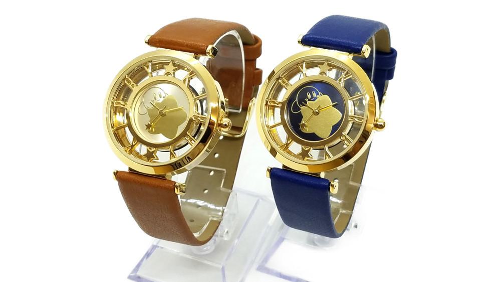 『星のカービィ ウォッチ』、カービィがおしゃれにあしらわれた腕時計、ブラウンとブルーの2色展開