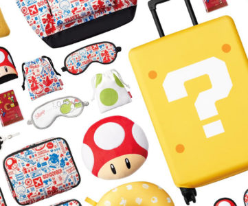 【任天堂公式】『スーパーマリオ』デザインのトラベルグッズが登場、スーパーキノコの携帯スリッパやマリオのひげラゲッジタグなど