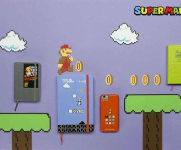 モレスキン×スーパーマリオ:NESカートリッジやゲームボーイ等のコラボデザイン手帳