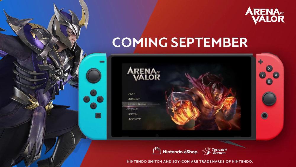 スイッチ版『Arena of Valor』は9月リリース、テンセントの基本プレイ無料MOBA