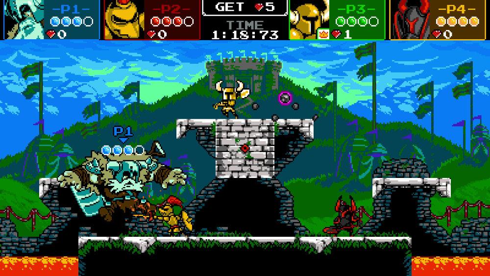 『ショベルナイト』のバトルモード「Shovel Knight Showdown」は最大4人プレイが可能なスマブラ風対戦アクション