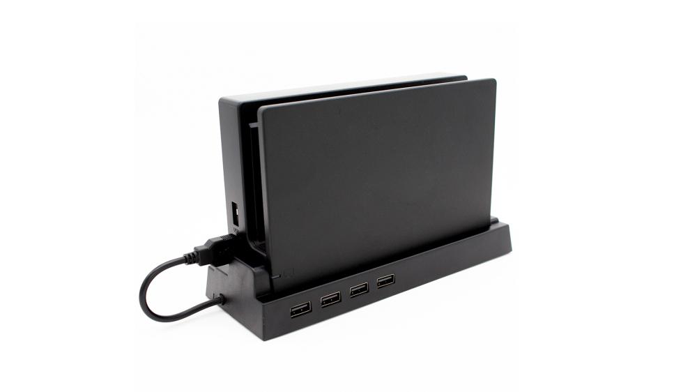 バスパワー/セルフパワー両対応、Nintendo Switch対応4ポートUSBハブ ドックスタンド