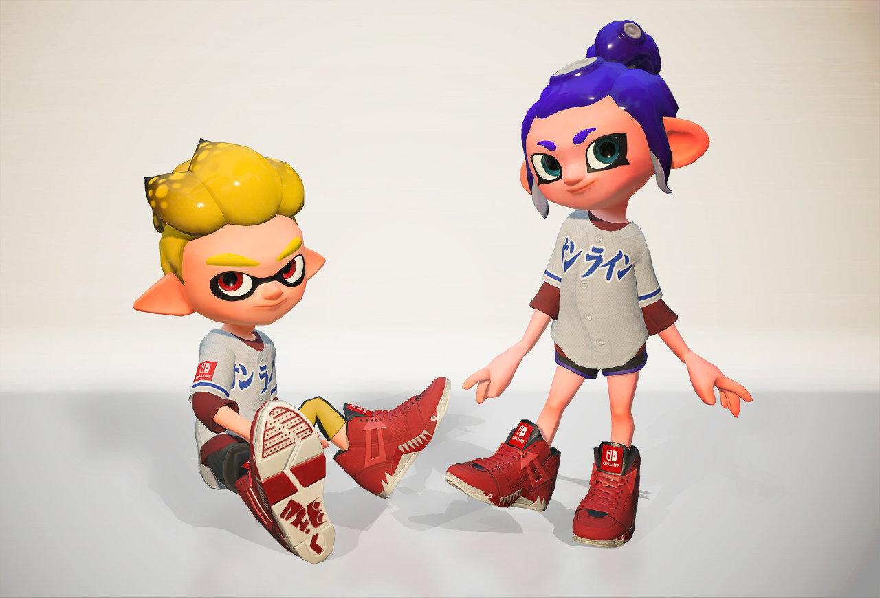 スプラトゥーン2:Nintendo Switch Online「12か月」または「ファミリープラン」加入で限定特典ギアがプレゼント