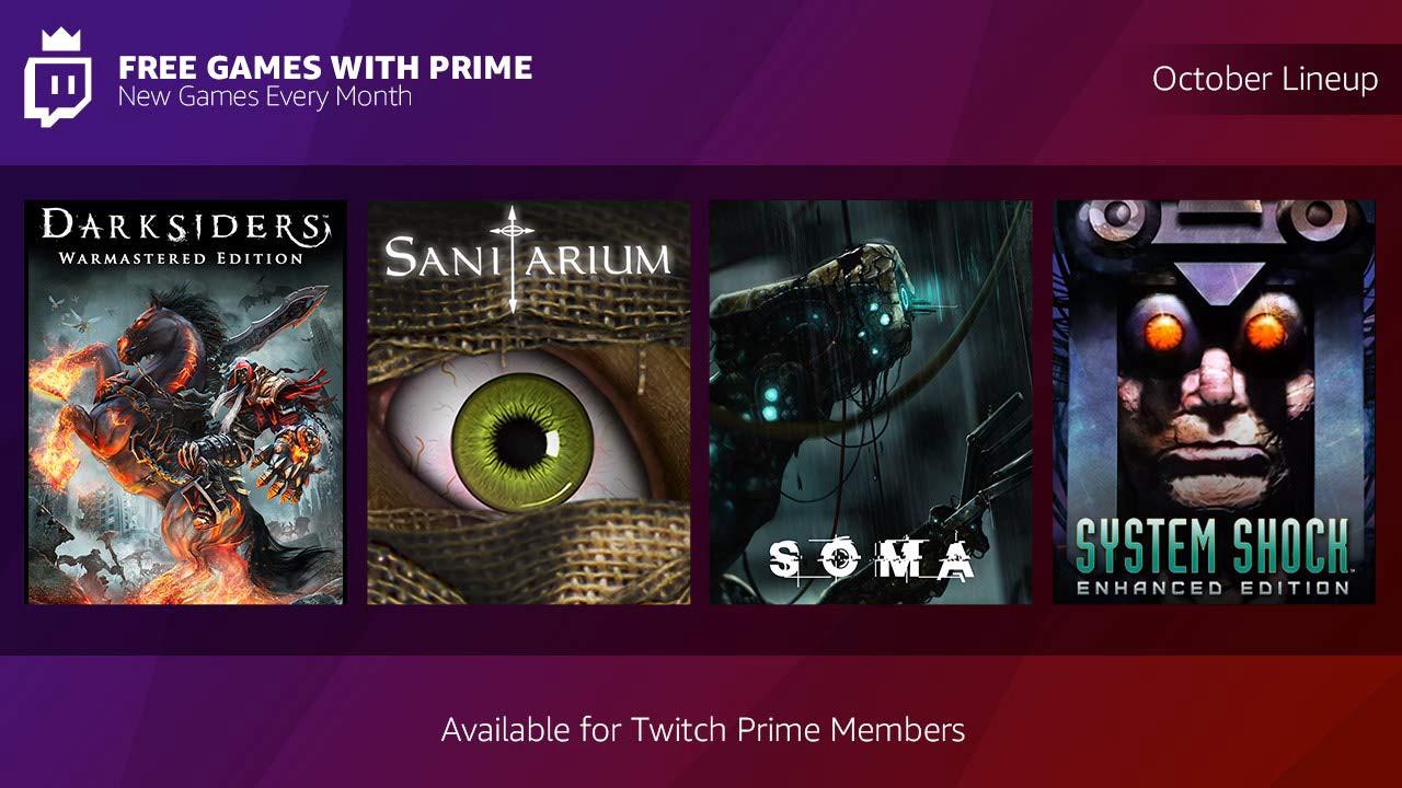 Twitch Prime:10月の無料ゲームは『Darksiders』や『SOMA』などダークな4タイトル