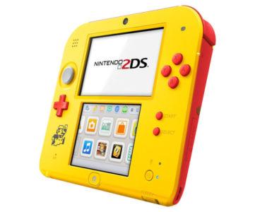 米任天堂、『スーパーマリオメーカー』同梱2DS本体セットを発売へ、黄色×赤の本体にドットマリオがデザイン