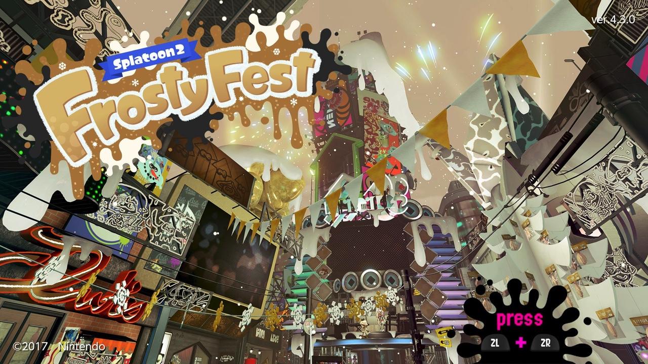 スプラトゥーン2:「Frosty Fest」特別ギアの受け取りかた・入手方法、世界合同クリスマス&ニューイヤーフェス開催