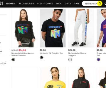 FOREVER 21×任天堂:今年のコラボはN64がフィーチャー、ロゴが大胆に配されたセーターやTシャツなどが販売に