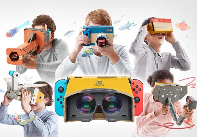 任天堂、Switch『Nintendo Labo』でVR参入。つくる、おてがるVR「VR Kit」を4月に発売
