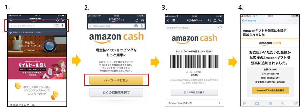 Amazon Cash 使い方