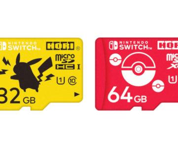 【任天堂公認】ポケモンデザインのmicroSDカード(32GB ピカチュウ/64GB モンスターボール)