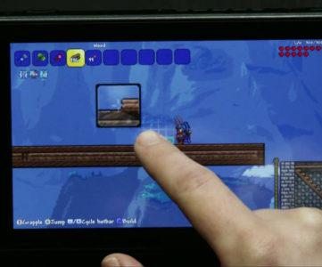 Nintendo Switch版『テラリア』、「携帯モード」でのタッチ操作紹介映像