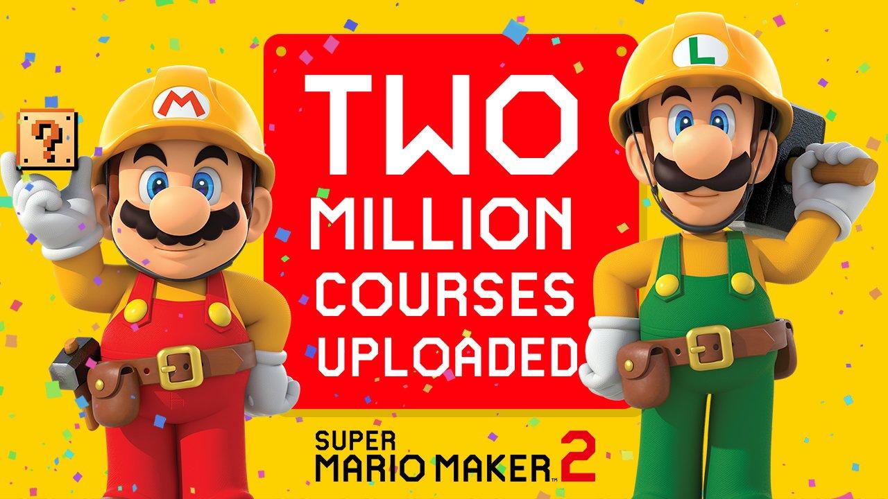 『スーパーマリオメーカー2』に投稿されたコース数が200万を突破