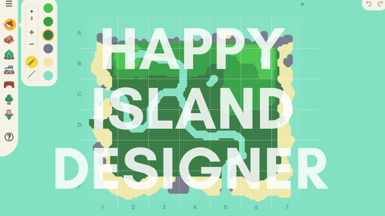 【あつ森】「Happy Island Designer」サービス、島の構想に便利なマップエディター