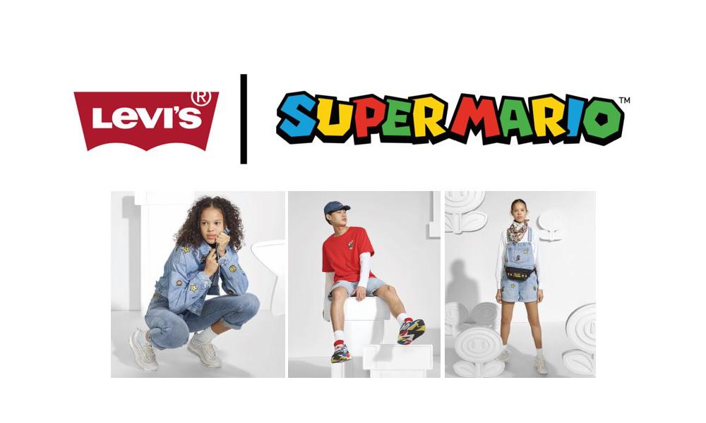 リーバイスと任天堂「スーパーマリオ」がコラボ、デニムアイテムを中心にコラボアイテム発売