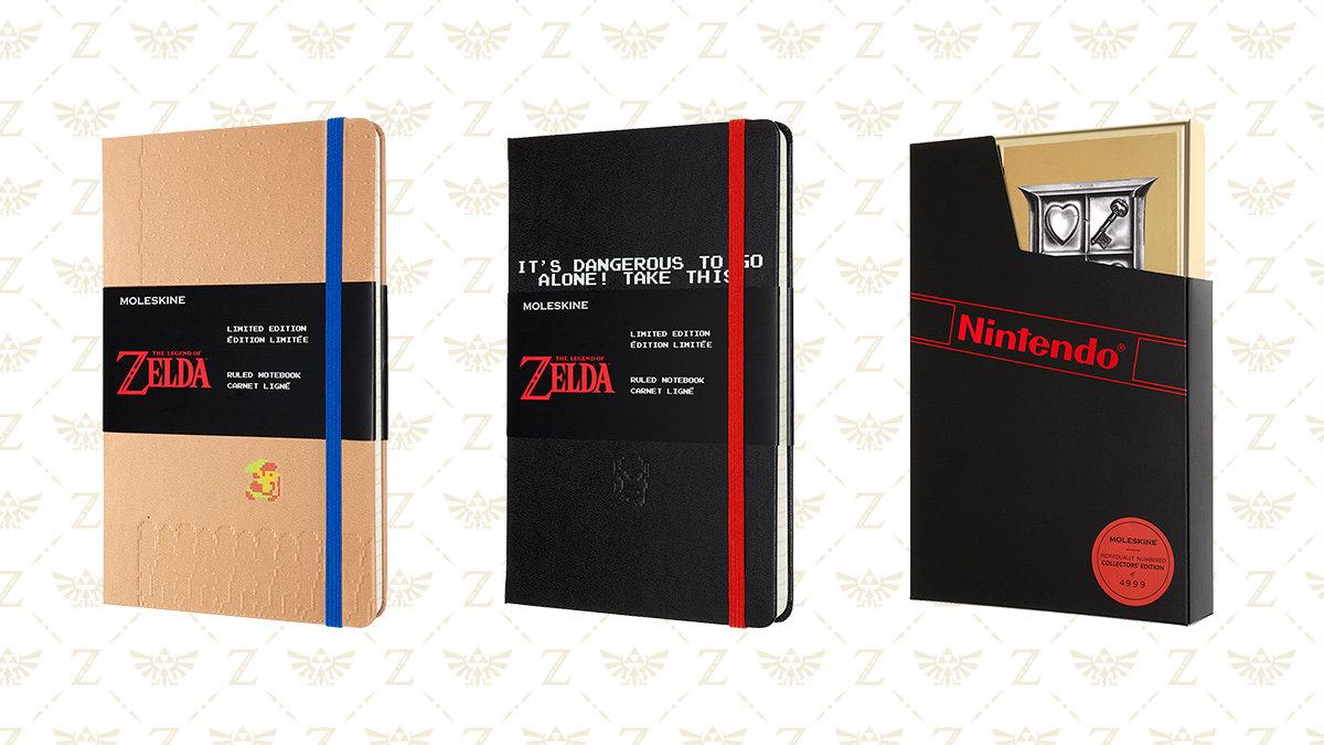 モレスキンから『ゼルダの伝説』ノートブックが登場、初代ドット絵が映える3デザイン