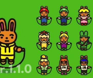 【ジャンプロープ チャレンジ】「Ver.1.1.0」で任天堂キャラの新衣装などが追加、『バッジとれ〜るセンター』のバイトくんの姿も