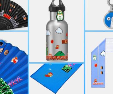 「スーパーマリオ トラベルグッズ」にステンレスボトルや扇子、クールタオルなどひんやり涼感な夏の新作が登場