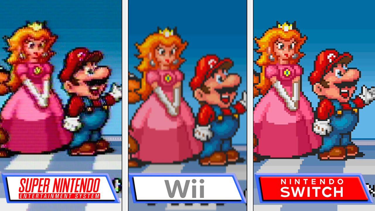 【比較】『スーパーマリオコレクション』スイッチ版とSFC版、Wii版との画質の違い