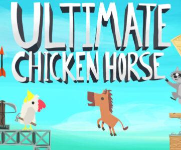 【いっせいトライアル】『Ultimate Chicken Horse』を無料で遊ぼう、最大4人で遊べるハチャメチャパーティーアクション