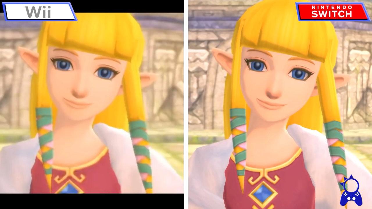 """【比較】『ゼルダの伝説 スカイウォードソード』Nintendo Switch版""""HD""""とWii版とのグラフィック比較"""